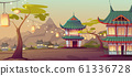 Chinese, asian village with traditional houses 61336728