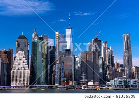 布魯克林高地長廊的曼哈頓紐約景觀 61336809