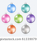 Colorful christmas balls. Set of isolated 3d 61339079