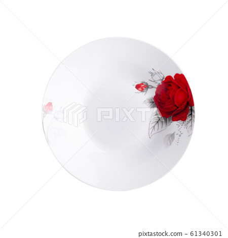 plate or hand painted plate on a background new. 61340301