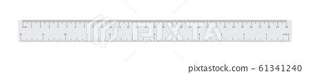 Engineer or architect paper drafting ruler with an 61341240
