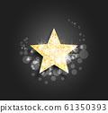 Illustration of golden star 61350393