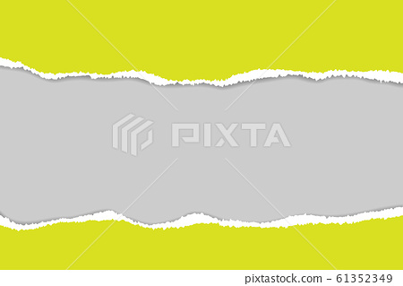 Vector of ripped paper. The paper was ripped 61352349