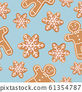 Christmas gingerbread seamless pattern. 61354787