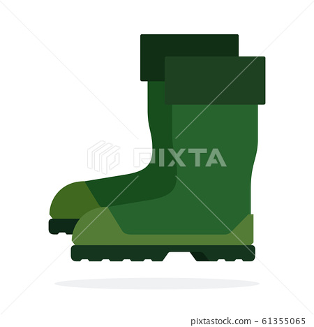 Fishing boots flat isolated vector 61355065