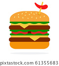 Spicy burger with beef 61355683
