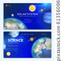 Landing page with solar system background 61356096