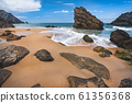 Rock on the Adraga beach -praia da Adraga Sintra, Portugal 61356368