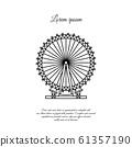 London Eye, Ferris wheel vector line icon, sign, symbol 61357190