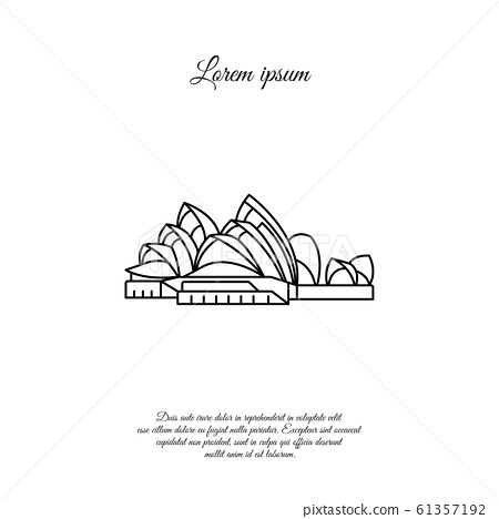 Sydney Opera House vector line icon, sign, symbol 61357192