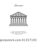Parthenon in Athens vector line icon, sign, symbol 61357193