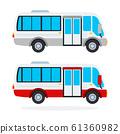 Urban Minibus vector flat isolated 61360982