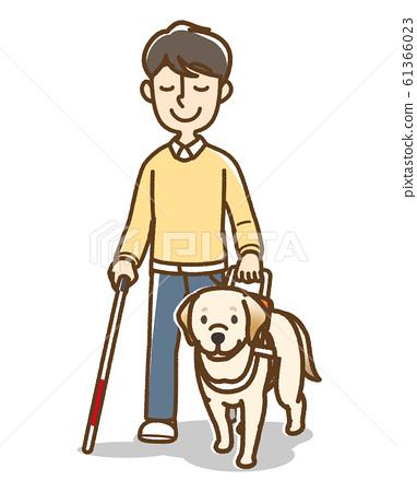 Guide dog U-shaped handle White cane 61366023
