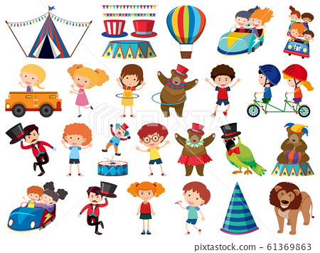 Large set of isolated objects of children and 61369863