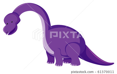 Single picture of purple brachiosaurus 61370011
