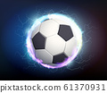 Soccer ball with electric discharges 61370931