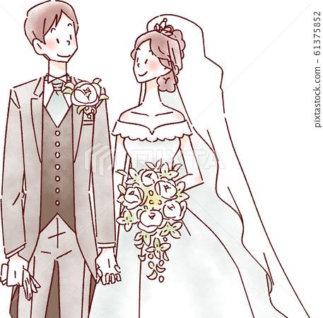 新娘和新郎 61375852