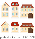 Residential buildings. Beige houses 61376228