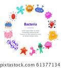 Cartoon Color Characters Bacteria Banner Card Circle . Vector 61377134