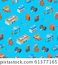 Auto Service 3d Seamless Pattern Background Isometric View. Vector 61377165