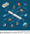 Auto Service 3d Concept Infographics Isometric View. Vector 61377171