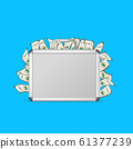 Realistic 3d Detailed Blank Aluminum Suitcase with Money. Vector 61377239