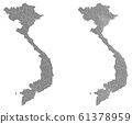 Vector map of Vietnam regions and administrative areas 61378959