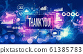 Thank you message with technology light background 61385783