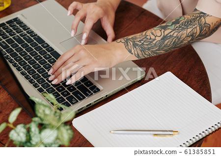 Hands Of Modern Businesswoman 61385851
