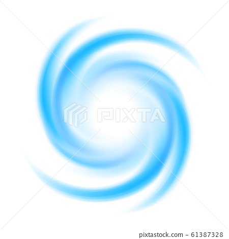Abstract blue swirl circle . Vector illustration for you modern design. Round frame or banner with place for text. Special effects. Translucent elements. Transparency grid. 61387328