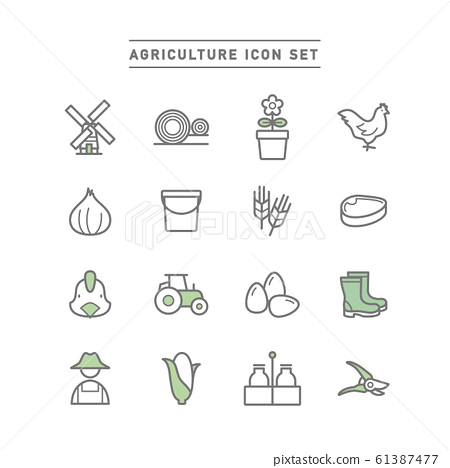 AGRICULTURE ICON SET 61387477