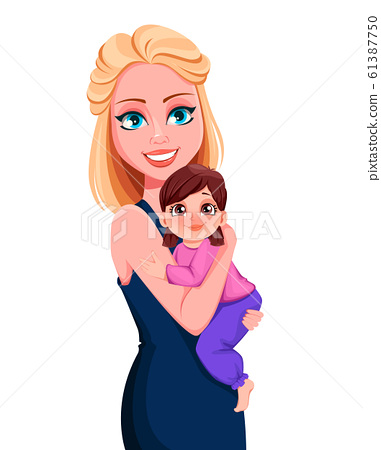 Mother and little daughter 61387750