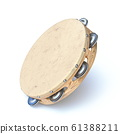 Wooden tambourine 3D 61388211