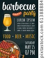 Vertical poster with bbq. Grill party calligraphic 61388884