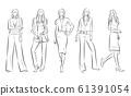 妇女的时尚插画 61391054