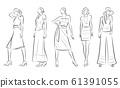 妇女的时尚插画 61391055