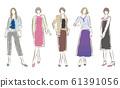 妇女的时尚插画 61391056
