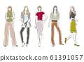 妇女的时尚插画 61391057