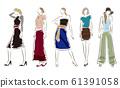 妇女的时尚插画 61391058
