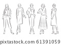 妇女的时尚插画 61391059