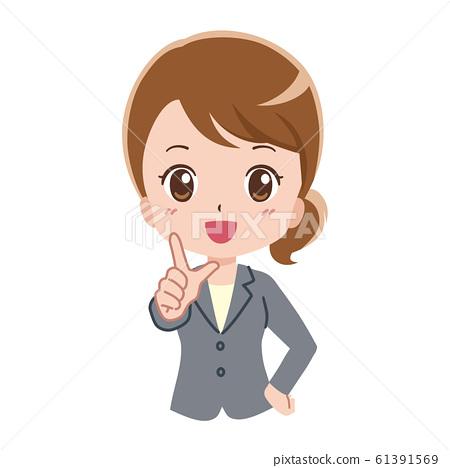 Business woman illustration 61391569
