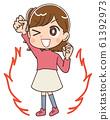 女孩小學生可愛漫畫插圖 61392973