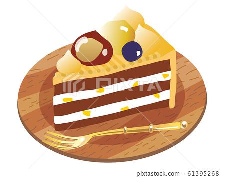 Marron shortcake illustration 61395268