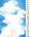 Background material (sky, clouds) 2-2 61397431