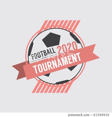 2020 Soccer Or Football Tournament Badge Vector Illustration 61399910
