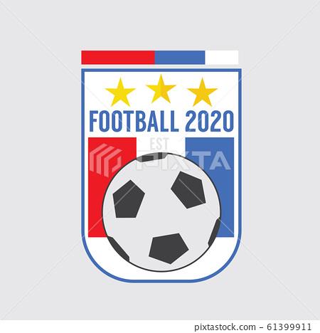 2020 Soccer Or Football Badge Vector Illustration 61399911