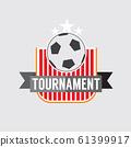 Soccer Or Football Tournament Badge Vector Illustration 61399917