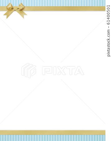 배경 - 블루 - 스트라이프 - 리본 - 프레임 61400501