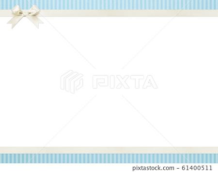 背景藍色條紋絲帶框架 61400511