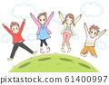 점프하는 아이들 61400997
